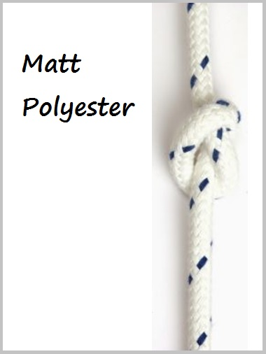 12mm - Matt Polyester white