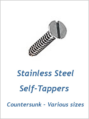 "Self-tapper screw c/sunk - 8 x 3/4"" to 1"" (4.2 x 19mm to 25mm)"