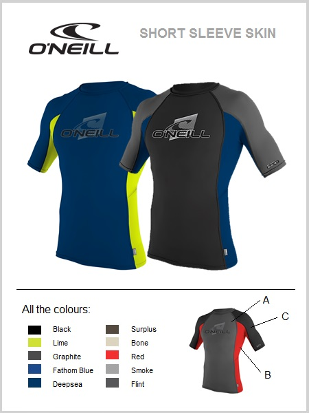 Short sleeve skin / rash guard