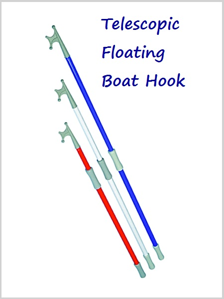 Telescopic floating boat hook