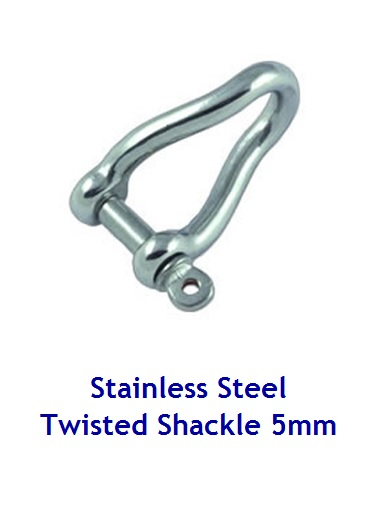 Twisted shackle Stainless Steel - 5mm forged pin